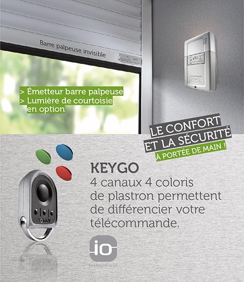 Télécommande Keygo sécurisée et confortable